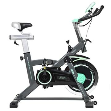 Professionelles Indoor Training-/ Spinning-Fahrrad. 20 kg Schwungrad, Herzfrequenzmesser und LCD-Bildschirm. Cardio-Fitness Workout. Einstellbarer Widerstand. Silence Fit. Cecotec Extreme 20