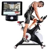 Sportstech Profi Indoor Cycle SX500 mit Smartphone App Steuerung+Google Street View, 25KG Schwungrad, Armauflage, Pulsgurt kompatibel Speedbike Studioqualität -SPD Klicksystem -bis 150KG