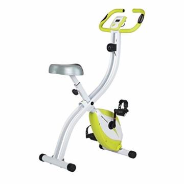 Ultrasport F-Bike 150 / F-Bike 200B Fahrradtrainer, Heimtrainer, faltbares Fitnessfahrrad mit Trainingscomputer und Handpulssensoren, klappbar