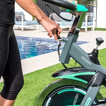 Professionelles Indoor Training-/ Spinning-Fahrrad. 20 kg Schwungrad, Herzfrequenzmesser und LCD-Bildschirm. Cardio-Fitness Workout. Einstellbarer Widerstand. Silence Fit. Cecotec Extreme 20 -