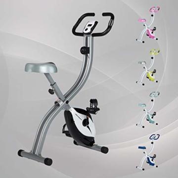 Ultrasport F-Bike 150 / F-Bike 200B Fahrradtrainer, Heimtrainer, faltbares Fitnessfahrrad mit Trainingscomputer und Handpulssensoren, klappbar -